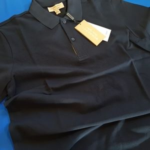 BURBERRY LONDON DARK NAVY COLOR COTTON CASUAL POLO